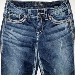 "Silver Jeans Jeans - Silver Jeans 28 x 31 Suki 17"" Dark Boot Bootcut"